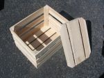 Item No. 1003 Handcrafted 1 1/4 Bushel Field Crate W/ False Bottom, Oak hardwood, Qty: 1