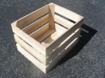 Item No. 1004: Handcrafted  1 1/3 Bushel Field Crate, Oak hardwood, Qty: 1