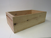 Item No 1007 1/2 bushel Produce Display Wood Crate