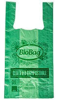 Item No 1011 Green T-Shirt Bio  Bag 500 pack