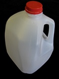 Item No 1030  Gallon Plastic Jug with Cap, 48 pack