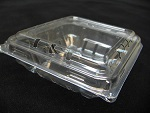 Item No. 1042,  4.4 oz Clam Hinge Cover Till. Clear Plastic, 552 pack