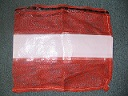 "Item No 1046 Bag Red Mesh with blank Label 22 "" x 24 inches  500 pack"