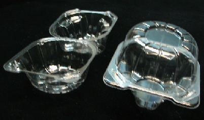 Item No 1079  Dessert Clear Clam Hinge Container 1,000 pack