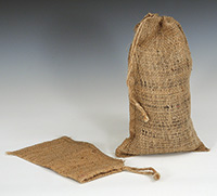Item No 1093 Burlap Bag 4 x 6 inches long with drawcord 500 pack