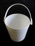 Item No 1125  Pail 1.25 quart, white, handle,  250 pack