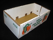 Item No 1126, 1/2 Peck Peach Corrugated Basket, 50 pack