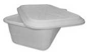 LID , FDA food handling, Fits bin # 1128,   6 pack