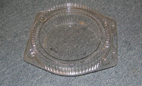 Item No 1153 Shallow 10 inch Pie tin Hinged lid Clear plastic Qty 100 & Item No 1153 Shallow 10 inch Pie tin Hinged lid Clear plastic Qty ...