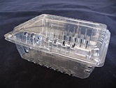 Item No 1199,  2 1/2 quart vented clear clam hinge till, 114 pcs per pack