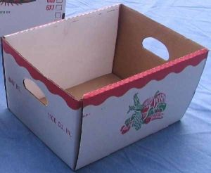 Item No 1209 One Bushel Corrugated Hamper Box, Qty: 100