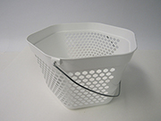 Item No 1217 Pail 4 Quart, Hex Pail, 6 sides, white, vented, handle  100 pack