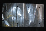 "Item No 1238 Bag clear vented 10"" x 17"" long, 2,500 pack"