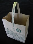 "Item No 1241 Bag, Paper Brown Tote, 5  LB, Handle,  ""Locally Grown"",  500 PACK"