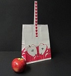Item No 1243  10 lb Tote Handle Sliced Apple Logo Paper Bag  500 pack
