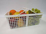 Item No 1248  Eight quart plastic mesh, Handle Basket 120 pack