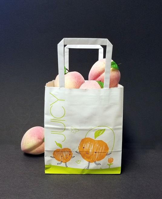 Item No 1262 Peach toto Bag, Paper 500 pack Bag 7 lb, 1/2 peck, Home ...