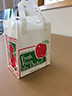 Item No 1284   1/2 Peck Plastic Apple, Tote Bag   500 pack