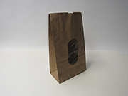 "Item No 1288 3 lb Brown Window Potato Bag, Gusset, 6 1/2"" x 3 1/2 "" x 11 "" tall, 400 Pack"
