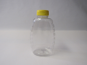 Item No 1346 Bottle Plastic 24 oz Queen Honey with cap 12 pack