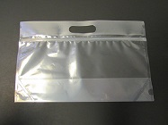 "Item No 1373   12 x 4 x 7 1/2"" Tall Grip Header, Zipper Seal Clear Plastic Bag 250 Pack"