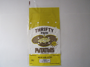 "Item No. 141  Plastic Potato Bag,  ""Thrifty Pack"", 5 lb., 1,000pack"