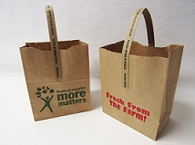 "Item No 1437 ""Fresh From The Farm"" 1/2 peck Paper Tote Bag 500 pack"
