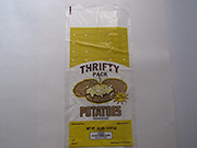 "Item No. 143 Plastic Potato Bag,  ""Thrifty Pack"", 10 lb., 1,000 pack"
