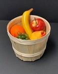 Item No 1470   1/2 Peck Natural Wood Basket, 52 pack