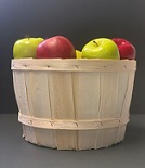 Item No 1471   Peck Natural Wood Basket, 26 pack
