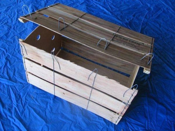 Item No 1514 1 1 9 Bushel Wood Wire Bound Crate 180 Pack