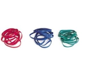 Item No. 250  Rubber Red, Green or Blue Band, 2,250 pcs. pack