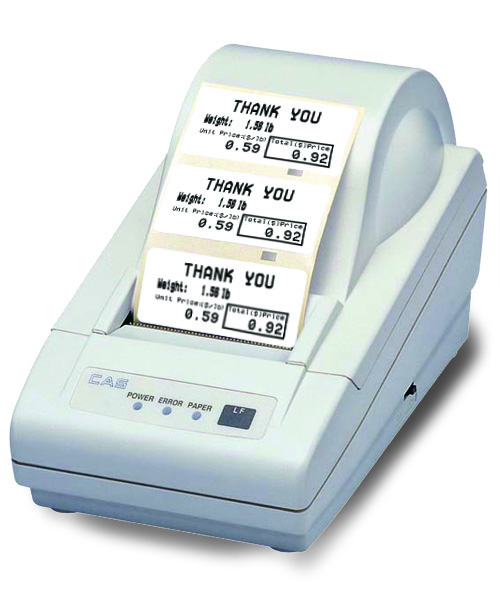 Item No 349 Label Printer Prints Total Weight, Unit Weight