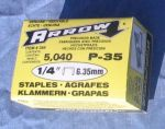Item No 357  Staples, 1/2 inches wide, 1/4 inch length