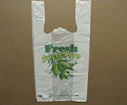 Item No 391   T-Shirt 1/6 Size Poly Bag, sweet corn, heavy duty 1,000 pack