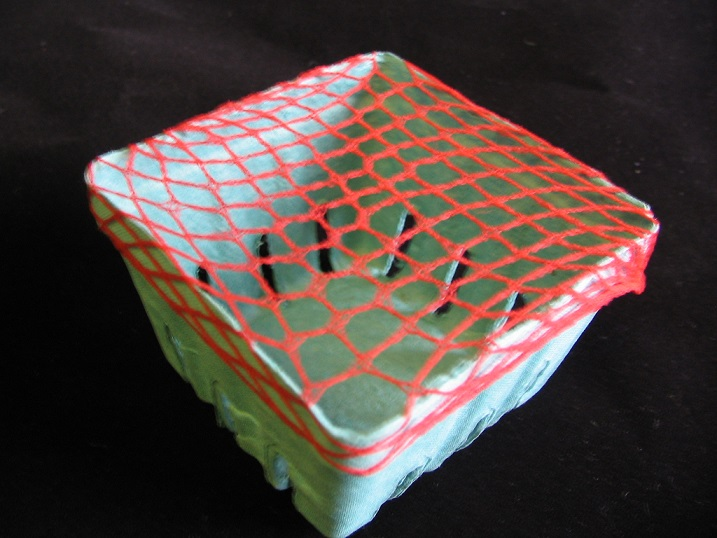 Item No 415 Pint Elastic Band Soft Red Plastic Net Mesh
