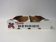 "Item No 433 Corrugated White Berry Flat/Tray Shipper, ""Fancy Berries"", 500 pack"