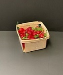 Item  No 464: Quart Square Strong Vented Wooden Berry Till/Basket/Box, Qty: 500- MINIMUM 4-5 WEEK LEAD TIME