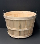 Item No 468  1/2 Bushel Basket, Natural Wood, 12 pack