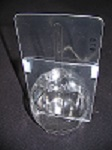 Item No 478  Caramel Apple Tray, 3 3/8 inch diameter, clear plastic 1,000 pack,