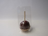 "Item No 478  Caramel Apple Container, 3 3/8"" diameter, clear plastic 1,000 pack"