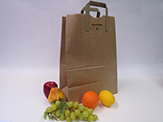 "Item No 502  1/6 Kraft Paper Tote Bag,  3/4"" Handle, 300 Pack"