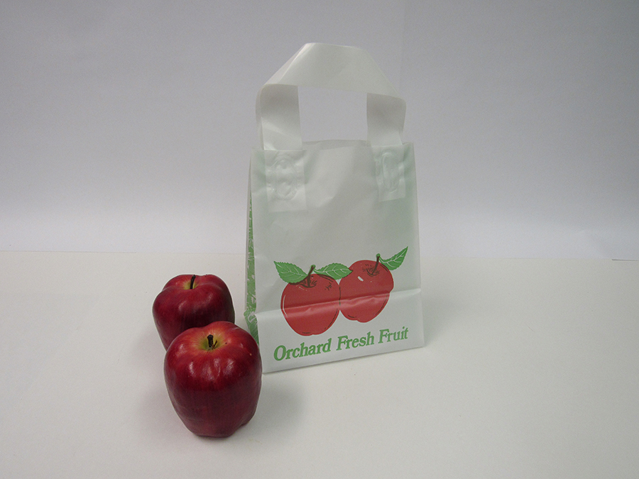 Item No 536 1 2 Peck Plastic Apple Tote Bag 500 Pack 6 3