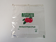 Item No 541   Apple-Drawcord Bag, clear, plastic, 1 peck, Qty: 1000