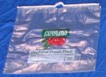 Item No 542  Apple-Drawcord Bag, Clear plastic, 1/2 bushel, 500 pack