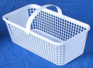 Item No 543  Four Quart Plastic Mesh Basket, white 210 pack