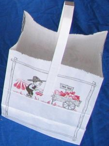 "Item No 545   1/4 Peck White ""Farm Fresh"" Paper Tote Bag  500 pack"