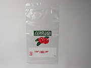 Item No 558  Wicketted Apple Bag, clear, 3 lbs., 1,000 pack