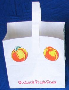 Item No 567   1/4 Peck Wet-Strength Paper Peach Tote Bag 500 pack