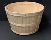 Item No 570  Bushel Basket, Wood, Wire Handles, 12 pack